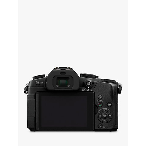 "Buy Panasonic Lumix DMC-G80EB-K Compact System Camera, 4K Ultra HD, 16MP, Wi-Fi, OLED Live Viewfinder, 3"" LCD Vari-Angle Touch Screen, Body Only, Black Online at johnlewis.com"