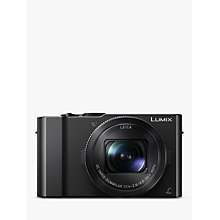 "Buy Panasonic Lumix DMC-LX15 Camera, 4K Ultra HD, 20.1MP, 3x Optical Zoom, 3"" LCD Tiltable Touch Screen, Black Online at johnlewis.com"