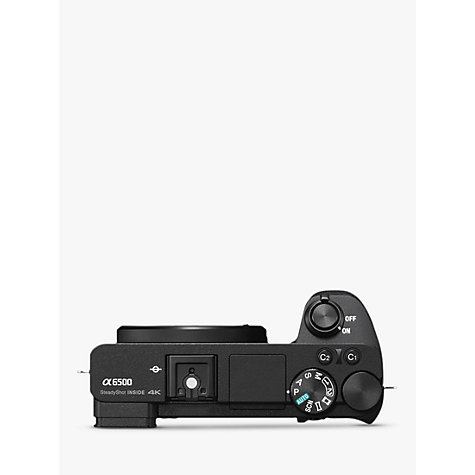"Buy Sony A6500 Compact System Camera, 4K Ultra HD, 25MP, OLED Viewfinder, Wi-Fi, NFC, 3"" LCD Touchscreen, Body Only Online at johnlewis.com"