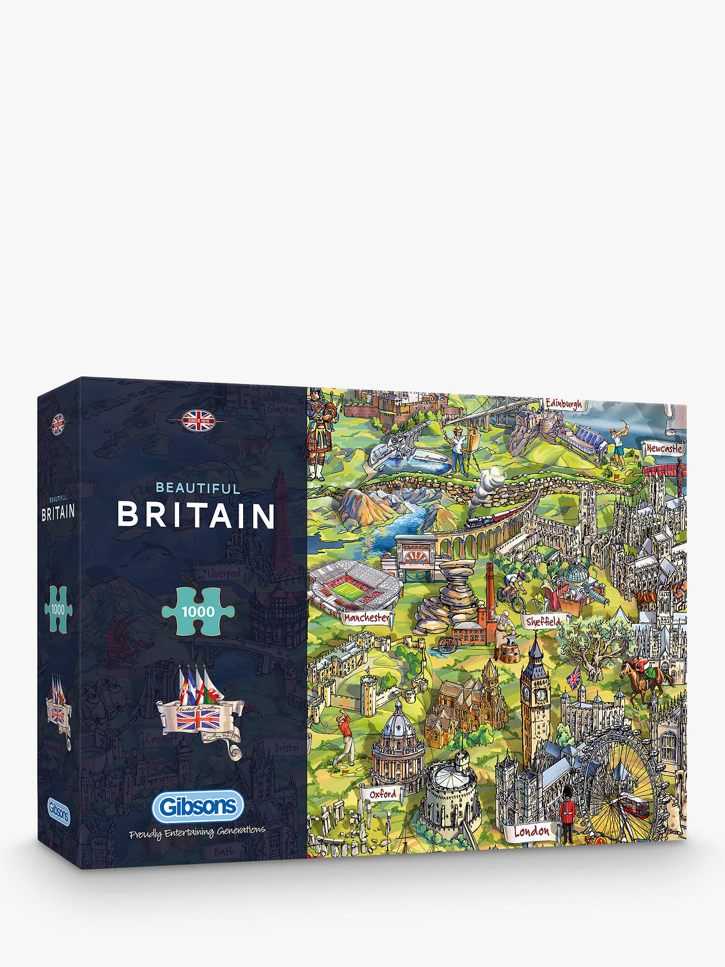 Map Of Uk To Buy.Gibsons Beautiful Britain Uk Map Jigsaw Puzzle 1000 Pieces
