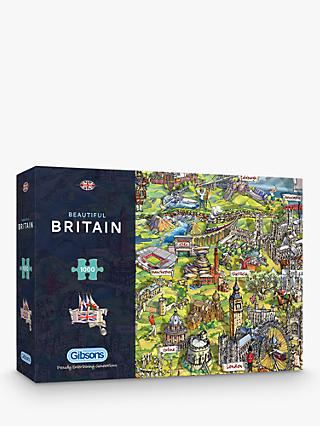 Gibsons Beautiful Britain UK Map Jigsaw Puzzle, 1000 pieces