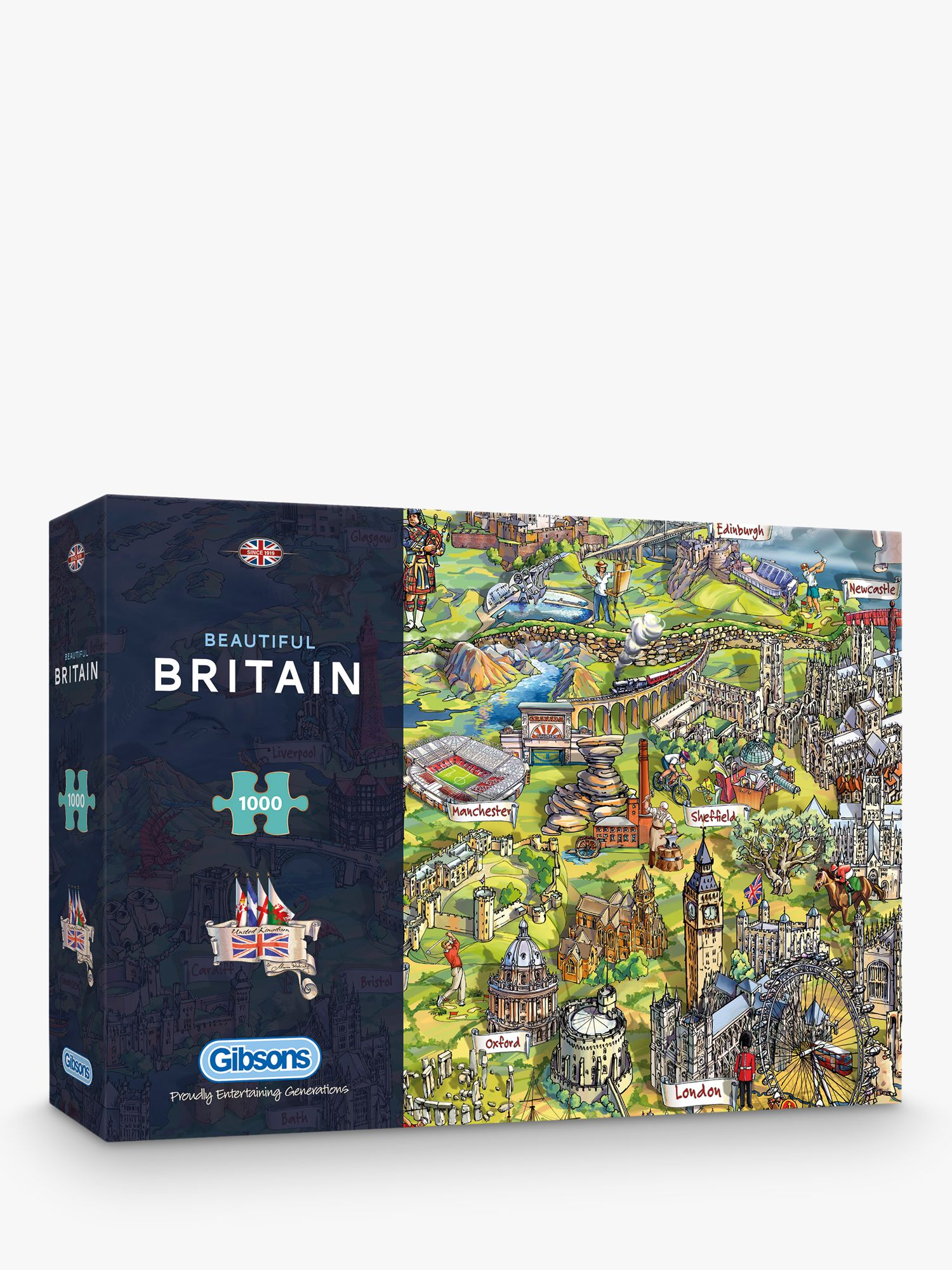 Gibsons Gibsons Beautiful Britain UK Map Jigsaw Puzzle, 1000 pieces