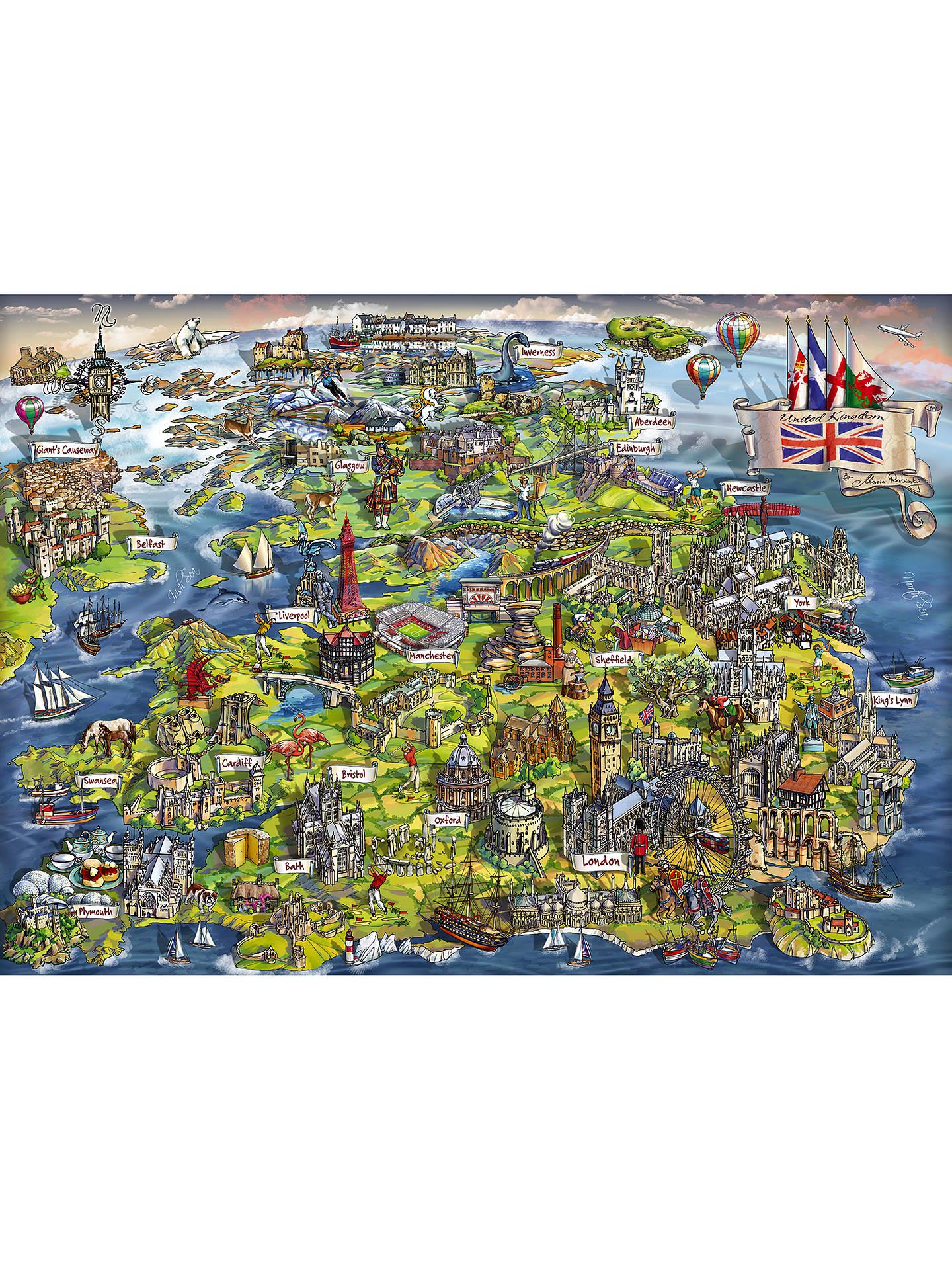 Map Of Uk Jigsaw.Gibsons Beautiful Britain Uk Map Jigsaw Puzzle 1000 Pieces