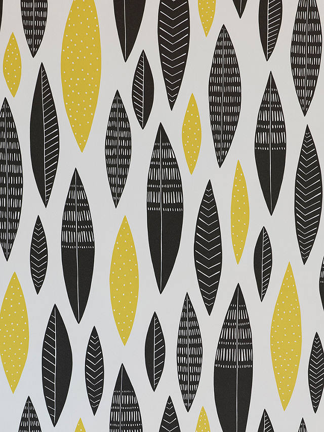 Buy MissPrint Five Feathers Wallpaper, Citrine MISP1180 Online at johnlewis.com