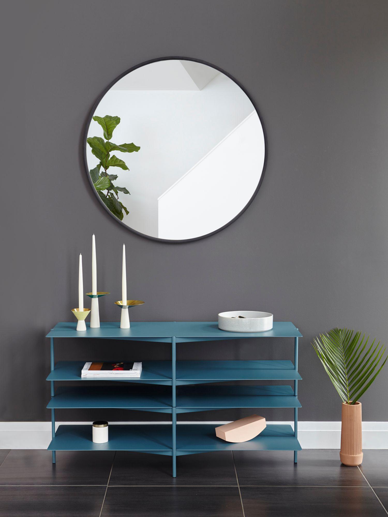 Umbra Umbra Hub Round Mirror, Dia.94cm, Black