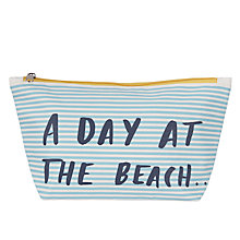 Buy John Lewis Day at the Beach Large Wash Bag Online at johnlewis.com