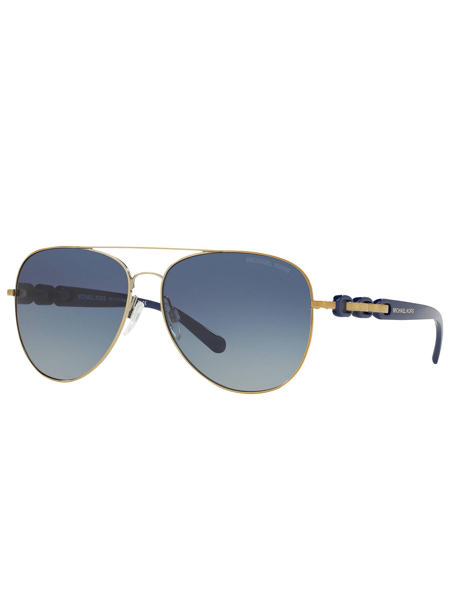 d9d1f869a Buy Michael Kors MK1015 Pandora I Aviator Sunglasses, Gold/Blue Gradient  Online at johnlewis ...