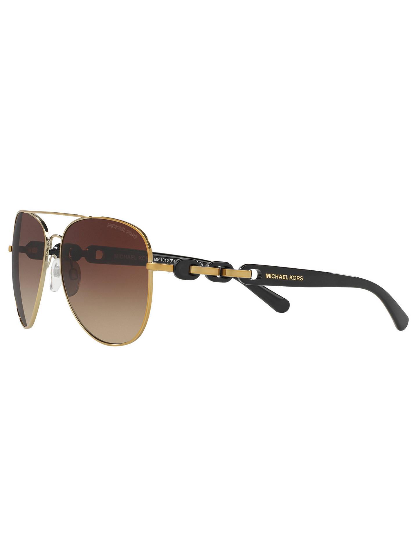 fe54caa37a2 Michael Kors MK1015 Pandora I Aviator Sunglasses at John Lewis ...
