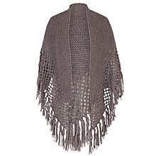 Buy Chesca Wool Blend Large Fringed Shawl With Crocheted Panel Online at johnlewis.com