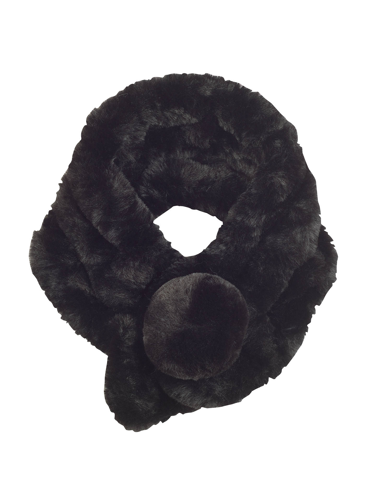 Buy Chesca Knitted Faux Fur Collar, Black Online at johnlewis.com