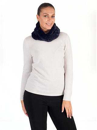 Buy Chesca Faux Fur Collar, Navy Online at johnlewis.com