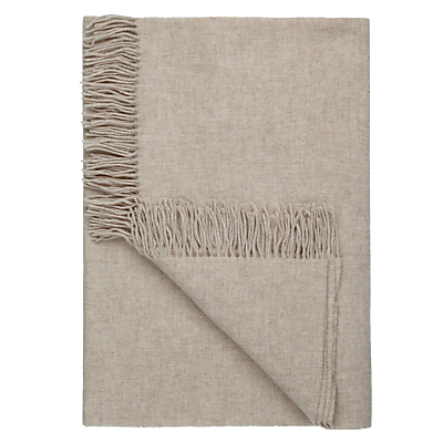 John Lewis Plain Wool Throw