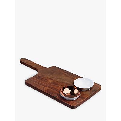 Just Slate Sheesham Wood Serving Board & Bowl Set