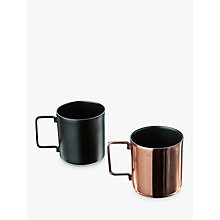 Buy Just Slate Coffee Cups, Set of 2 Online at johnlewis.com