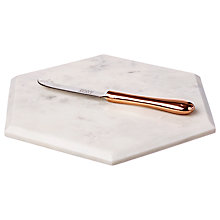 Buy Just Slate Marble Cheese Board And Knife Set Online at johnlewis.com