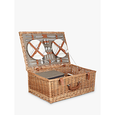John Lewis Croft Collection 4 Person Luxury Wicker Hamper