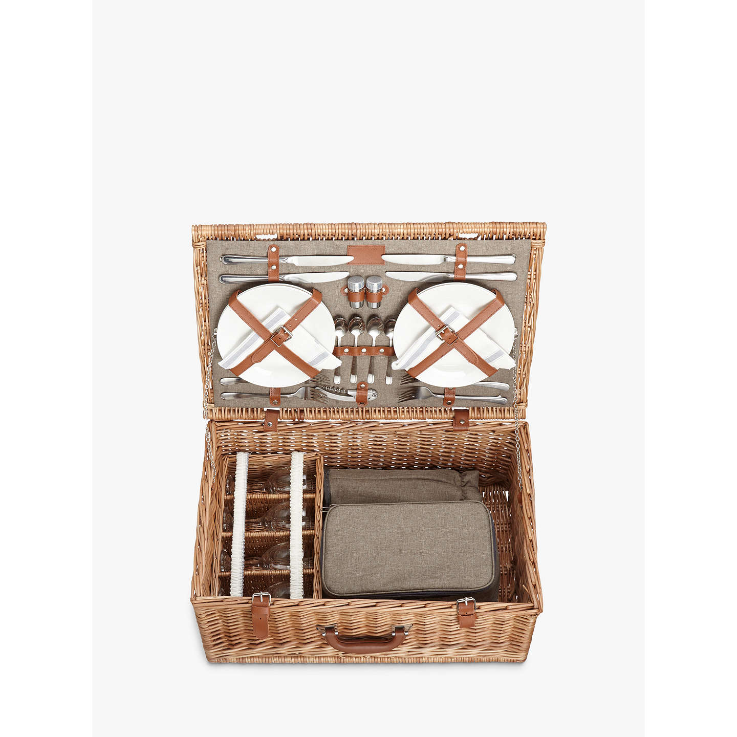 BuyCroft Collection 4 Person Luxury Wicker Picnic Hamper Online at johnlewis.com
