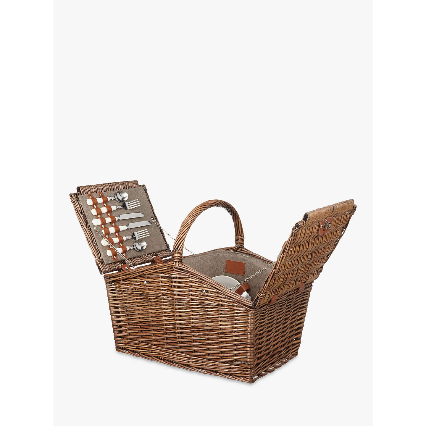 BuyCroft Collection Filled Picnic Hamper, 4 Person Online at johnlewis.com