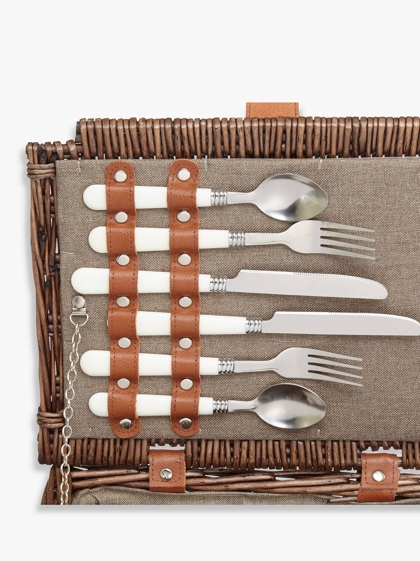 Buy Croft Collection Filled Wicker Picnic Basket, 4 Person Online at johnlewis.com