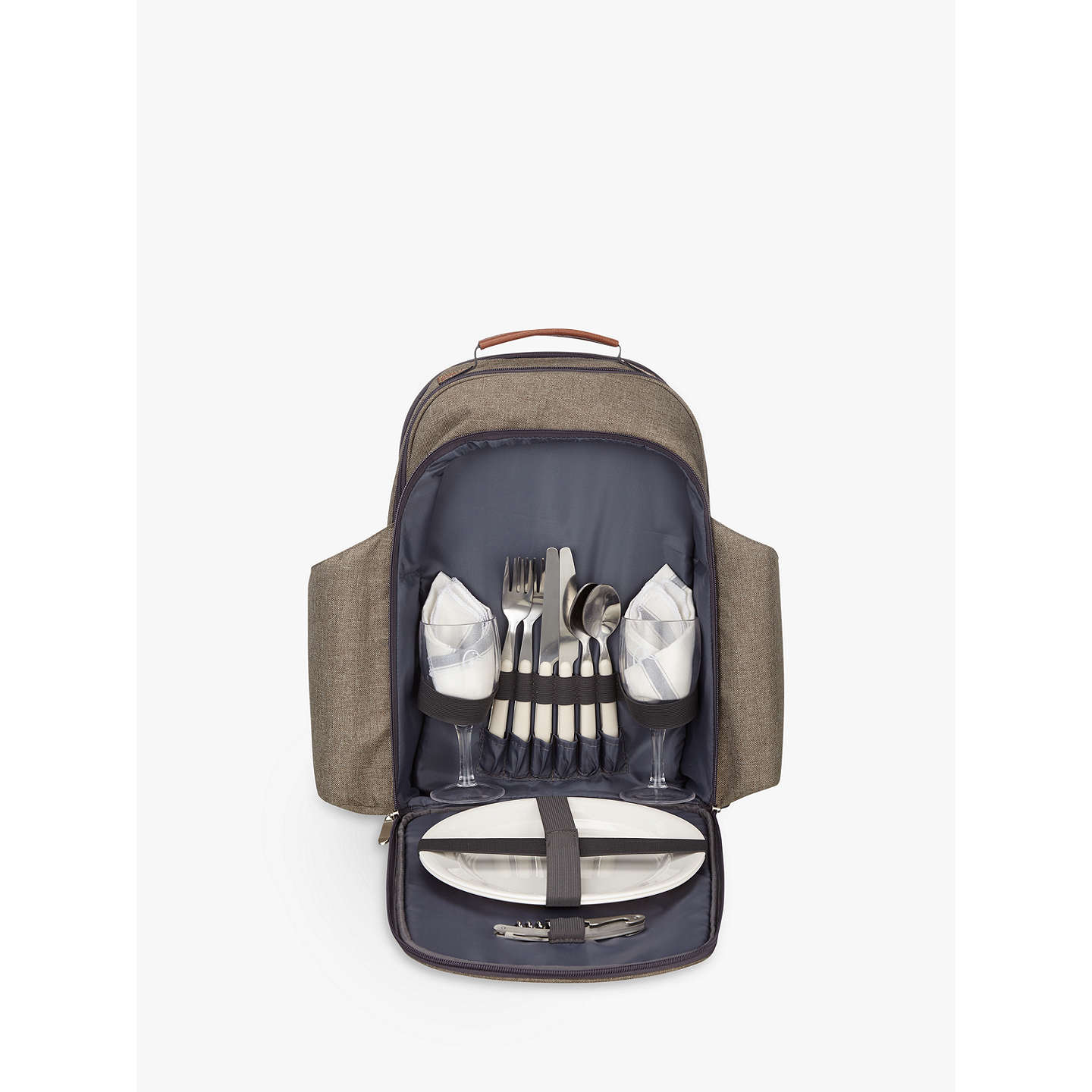 BuyCroft Collection 2 Person Backpack Picnic Hamper and Cooler Bag Online at johnlewis.com