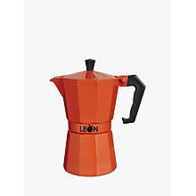 Buy LEON Espresso Maker, 6 Cup, Red Online at johnlewis.com