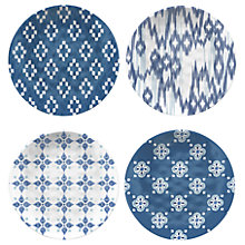 Buy Eddingtons Vasaio Coupe Melamine Plates, Set of 4, Blue Online at johnlewis.com
