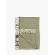 Buy John Lewis Croft Collection Fishbone Wool Rug, Olive Online at johnlewis.com