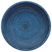 Buy Eddingtons Artisan Salad Melamine Plate, Indigo Online at johnlewis.com