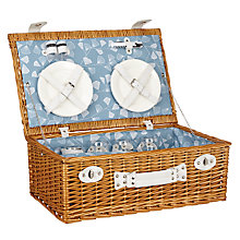 Buy MissPrint 4 Person Fern Hamper, Aqua Online at johnlewis.com