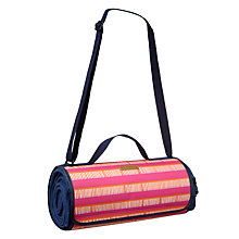 Buy John Lewis Dakara Fleece Picnic Rug, Navy Blue Online at johnlewis.com