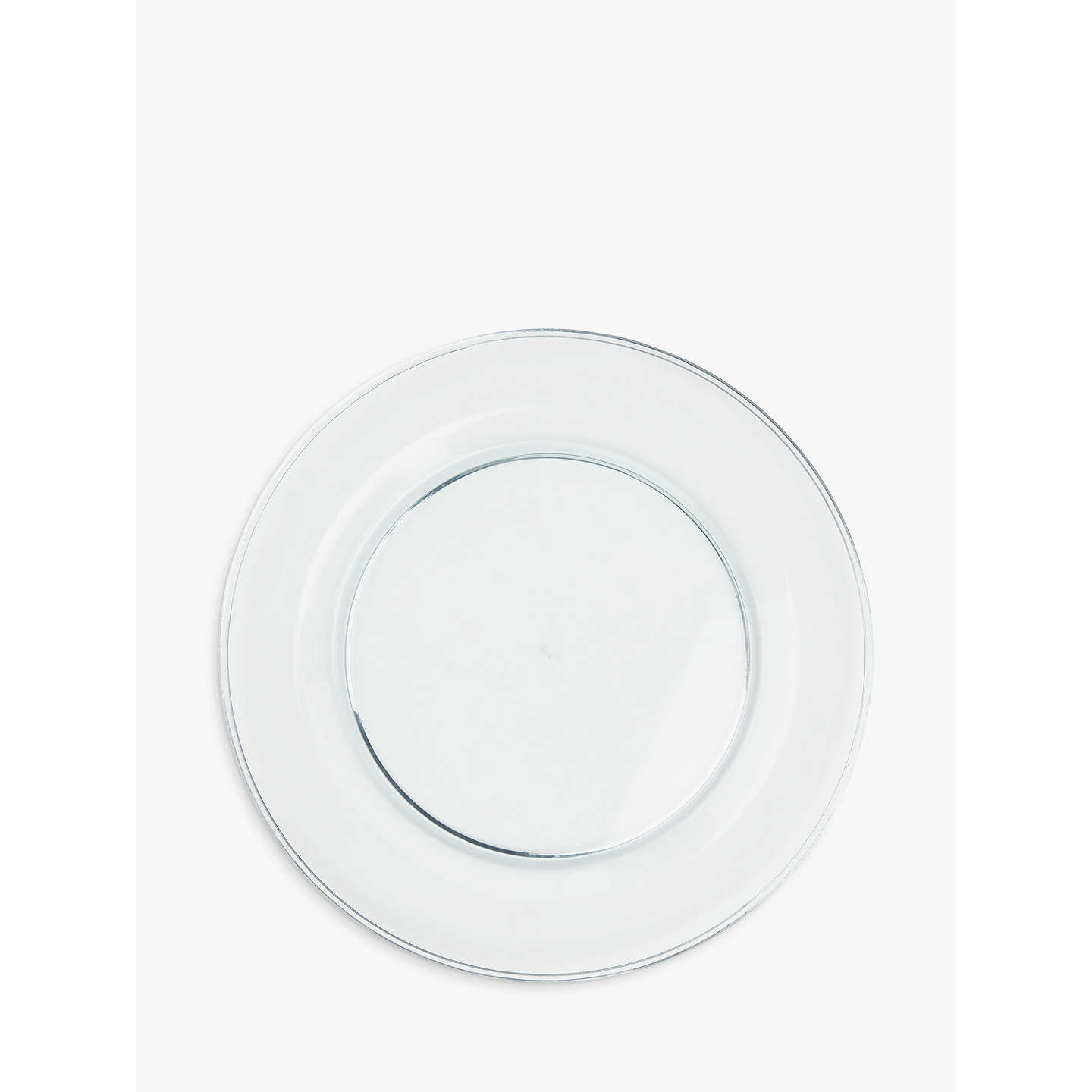 BuyJohn Lewis The Basics 25cm Acrylic Dinner Plates Set of 4 Clear Online at  sc 1 st  John Lewis & John Lewis The Basics 25cm Acrylic Dinner Plates Set of 4 Clear at ...