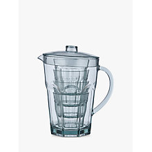Buy John Lewis Basics Plastic Pitcher and 4 Tumblers Set Online at johnlewis.com