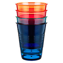 Buy John Lewis Dakara Stackable Large Plastic Tumblers, Set of 4 Online at johnlewis.com
