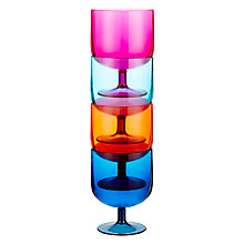 Buy John Lewis Dakara Stackable Plastic Wine Glasses, Set of 4 Online at johnlewis.com