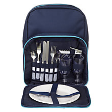 Buy John Lewis Dakara Filled 2 Person Picnic Hamper Backpack Online at johnlewis.com