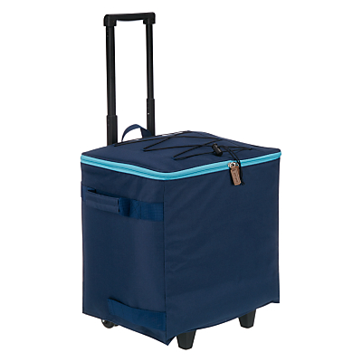 John Lewis Dakara Wheeled Cooler Bag, Navy
