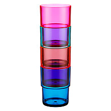 Buy John Lewis Dakara Stackable Plastic Tumblers, Set of 4 Online at johnlewis.com