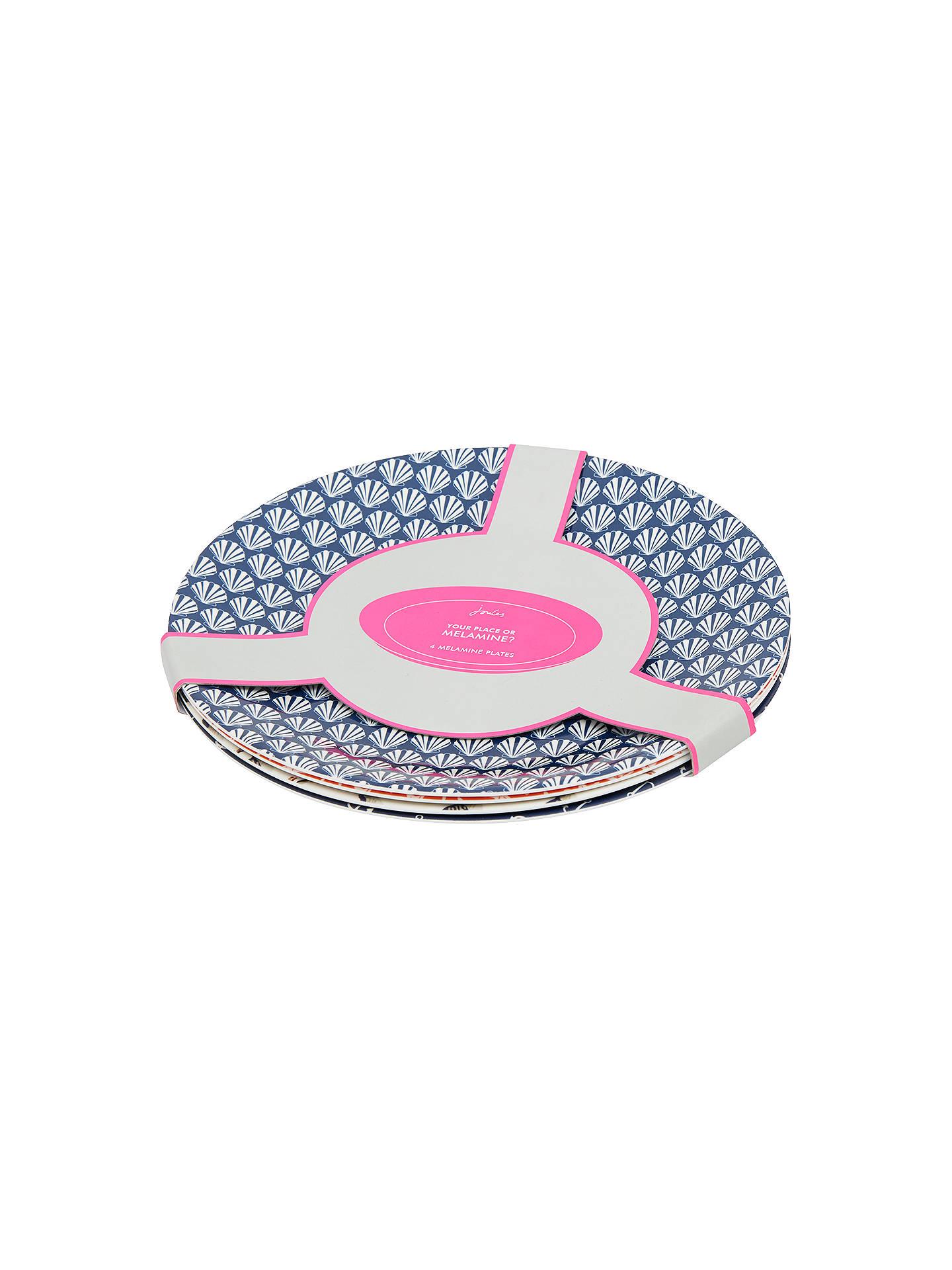 Buy joules melamine 25 8cm plates set of 4 online at johnlewis com