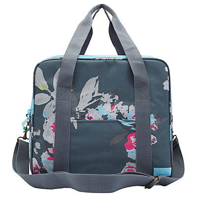 Joules Grey Floral Cooler Bag