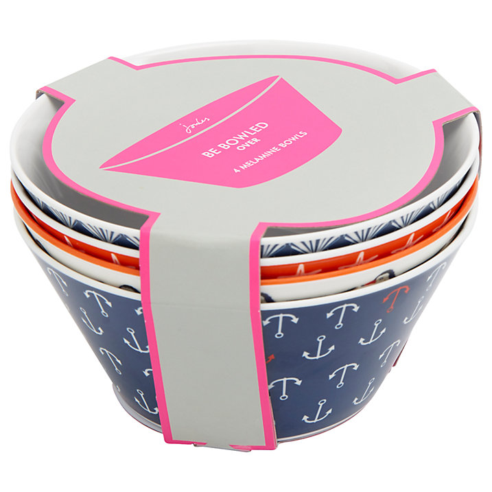Buy Joules Be Bowled Over Melamine Bowls, Set of 4 Online at johnlewis.com