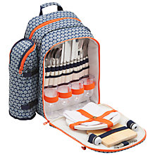 Buy Joules Seashells Filled Rucksack Picnic Hamper, 4 Person Online at johnlewis.com