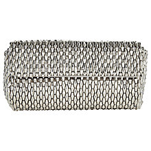 Buy Jacques Vert Metallic Beaded Clutch Bag, Metallic Online at johnlewis.com