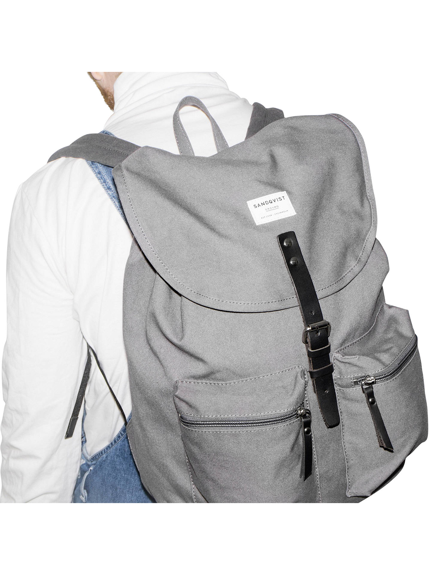 BuySandqvist Roald Ground Backpack, Grey Online at johnlewis.com