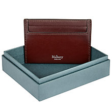Buy Mulberry Smooth Calf Leather Credit Card Slip, Oxblood Red Online at johnlewis.com