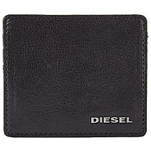 Buy Diesel Jonas Leather Card Holder, Black Online at johnlewis.com