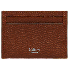 Buy Mulberry Natural Grain Leather Credit Card Slip Online at johnlewis.com