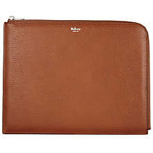 Buy Mulberry Leather Tech Pouch, Oak Online at johnlewis.com
