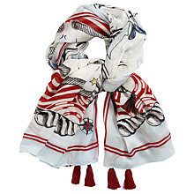 Buy Oui Printed Scarf, Blue Online at johnlewis.com