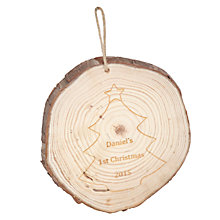 Buy My 1st Years Baby Personalised Wooden Hanging Decoration Online at johnlewis.com