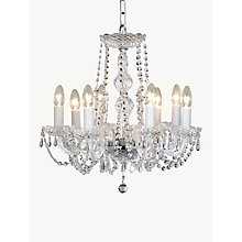 Buy Impex Modra Chandelier Ceiling Light, 8 Light, Crystal Clear Online at johnlewis.com